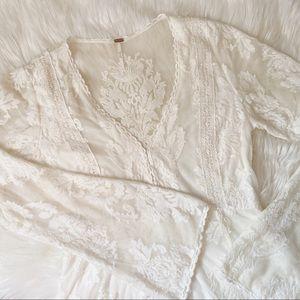 Free People Ivory Lace Dress | 6